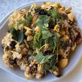 Gluten-free charred cauliflower from True Food Kitchen