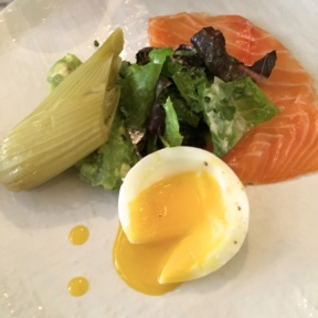 Smoked salmon and egg from Upholstery Store: Food & Wine