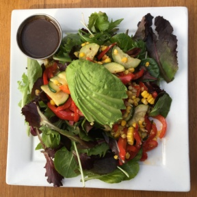 Gluten free salad with avocado from Venice Ale House