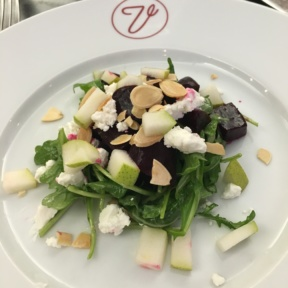 Gluten-free beet salad from Versailles