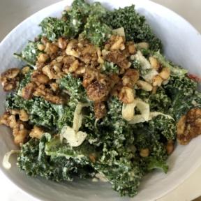 Kale Caesar salad from Beaming