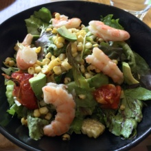 Gluten free shrimp salad at Elm Restaurant in CT