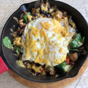 Gluten-free bacon hash from Fratelli Cafe