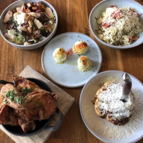 Gluten-free lunch spread from Yardbird
