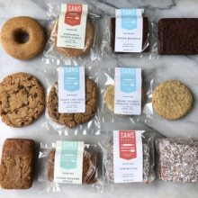 Gluten-free baked goods by Sans Bakery