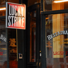 Lucky Strike restaurant in NYC
