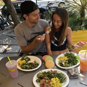 Brendan feeding Jackie at Lemonade