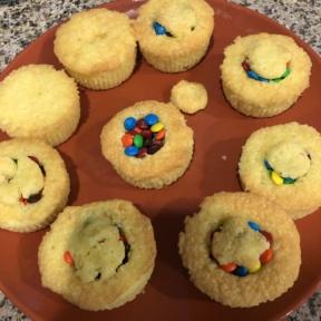 Filling the Pinata Cupcakes