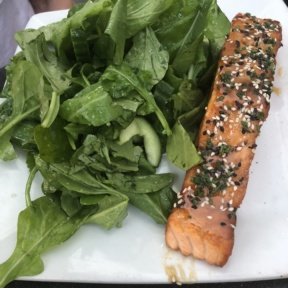 Salmon entree from The Misfit