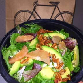 Gluten-free salad from 12 Chairs Cafe