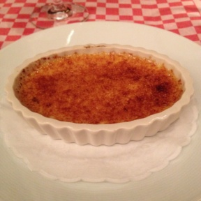Gluten-free creme brulee from 21 Club
