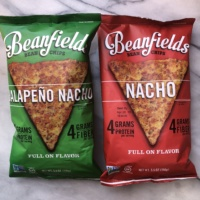 Nacho chips from Beanfield Snacks