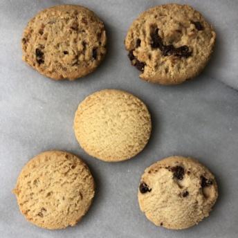 Five types of shortbread cookies by Walkers