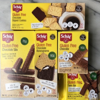 Gluten-free cookies and chocolate bars by Schar