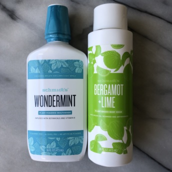 Mouthwash and body wash by Schmidt's Naturals