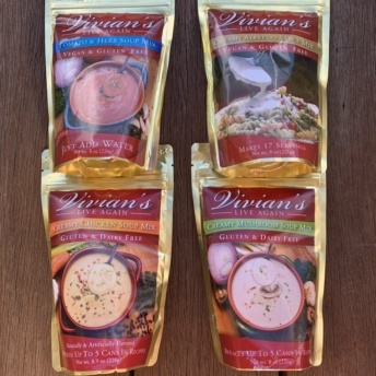 Gluten-free soup and sauce mixes by Vivian's Live Again