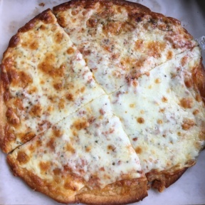 Gluten-free cheese pizza from Abbot's Pizza Company