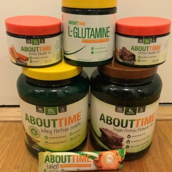 Gluten-free protein supplements by About Time