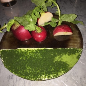 Gluten-free radish dish from Acme