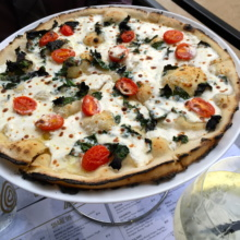 Gluten-free veggie pizza from Adoro Lei