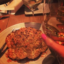 Gluten-free cauliflower from Aldo Sohm Wine Bar by Le Bernardin