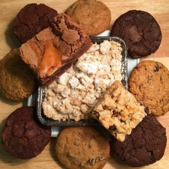 Platter of gluten-free products from Allie's GF Goodies