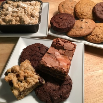 Gluten-free crumb cake and cookies from Allie's GF Goodies