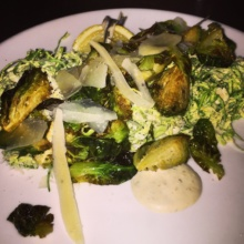 Gluten-free brussels sprouts Caesar salad from Almond