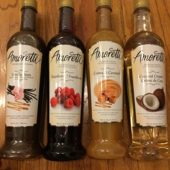 Gluten-free premium syrups by Amoretti