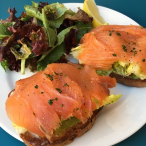 Gluten-free salmon avocado toast from Angelini Alimentari