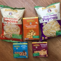 Gluten-free popcorn, cookies, and bars from Annie's