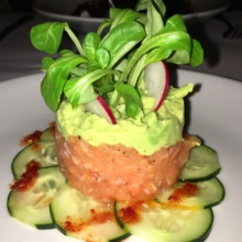 Gluten-free salmon tartare from Arte Cafe