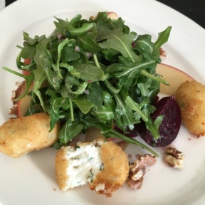 Gluten-free goat cheese salad from Artisan at The Delamar