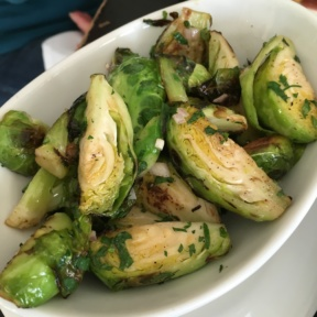 Gluten-free brussels sprouts from Artisan at The Delamar
