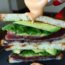 Gluten-free sandwich from Atrio Wine Bar & Restaurant