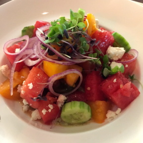 Gluten-free watermelon salad from Atrio Wine Bar & Restaurant