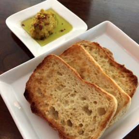 Gluten-free bread from Atrio Wine Bar & Restaurant