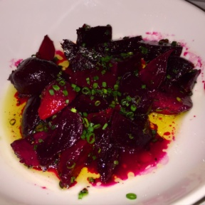 Gluten-free roasted beet salad from August
