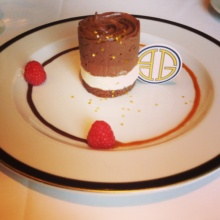 Gluten-free chocolate dessert from BG Restaurant at Bergdorf Goodman