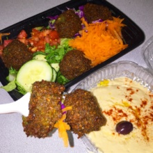 Gluten-free falafel from Baba Ghanouge