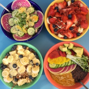 4 Gluten-free bowls from Backyard Bowls