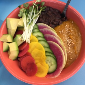 Gluten-free rainbow bowl from Backyard Bowls