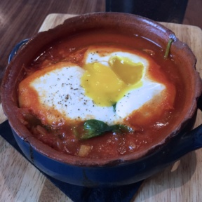 Gluten-free shakshuka with eggs from Balaboosta