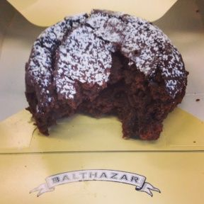 Gluten-free flourless chocolate cake from Balthazar