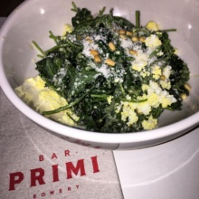 Gluten-free kale salad from Bar Primi