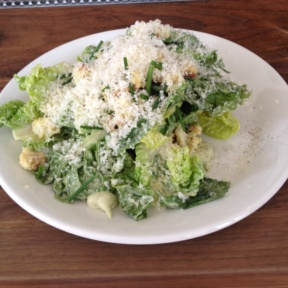 Gluten-free Caesar salad from Bar Sardine