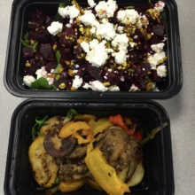 Gluten-free beet salad and veggies from Barbalu