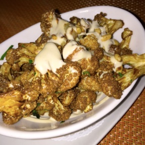 Gluten-free cauliflower from Barbounia