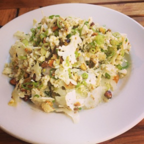 Gluten-free cauliflower salad from Barbuto