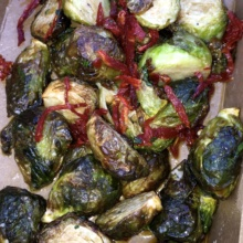 Gluten-free brussels sprouts from Barraca
